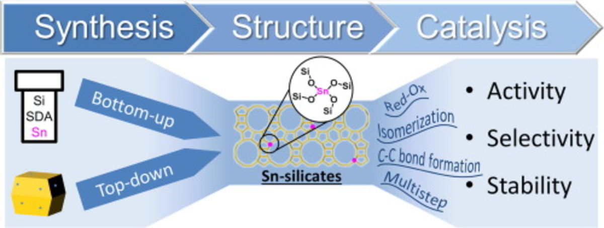 Lewis acid catalysis on single site Sn centers incorporated into silica hosts